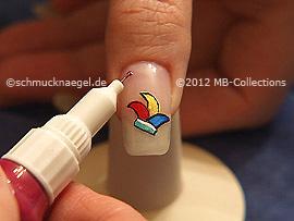 Nail art pens in three various colours