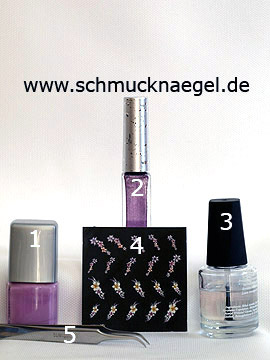 Products for the motif with 3D flowers sticker for French fingernail design - Nail polish, Nail art liner, 3D nail sticker