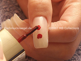 nail polish in the colour dark-red