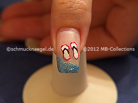 Flip Flops As Fingernail Summer Motif Nail Art Designs