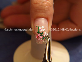 flower sticker and tweezers