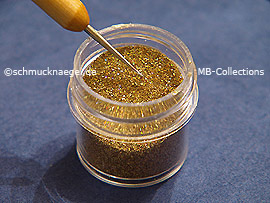 Glitter-Powder in the colour gold