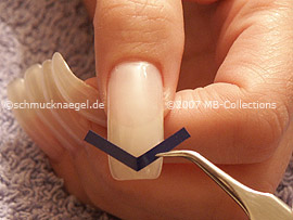 French manicure templates V-shaped