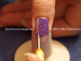 Micro beads in lavender and spot-swirl