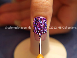 strass stones in lavender and spot-swirl