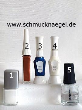 Products for the German Oktoberfest motif as fingernail design - Nail polish, Nail art liner, Nail art pen