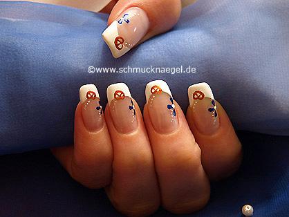 German Oktoberfest motif as fingernail design