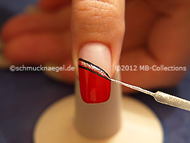 Nail art liner in silver-Glitter