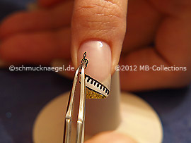 Nail art sticker with sheet music
