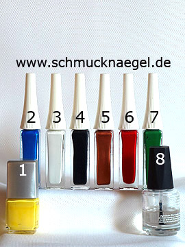 Products for the design 'Bird as fingernail motif with nail lacquer' - Nail polish, Nail art liner