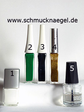 Products for the design 'Lizard as motif for the fingernails' - Nail polish, Nail art liner