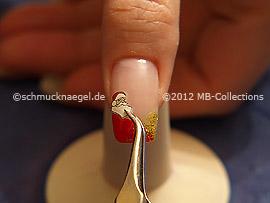 Santa Claus sticker amd tweezers