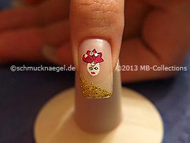 Carnival motif 5: Nail art motif 348