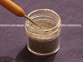 Glitter-Powder in silver