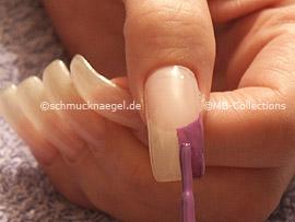 nail art pen in the colour purple