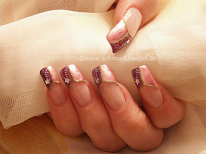 French with strass stone