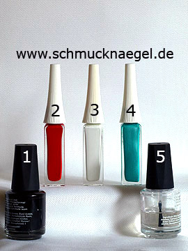 Products for the vintage flowers as nail art motif - Nail polish, Nail art liner