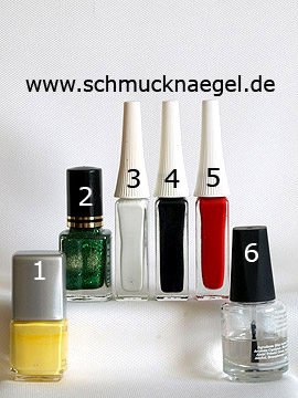 Products for the Easter chick as decoration for fingernails - Nail polish, Nail art liner