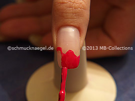 Nail lacquer in the colour dark pink