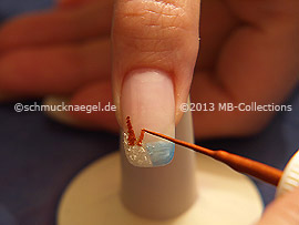 Nail art liner in the colour brown