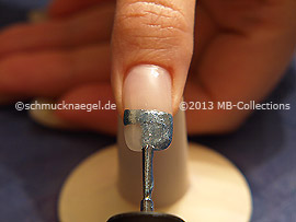 Nail lacquer in the colour denim blue