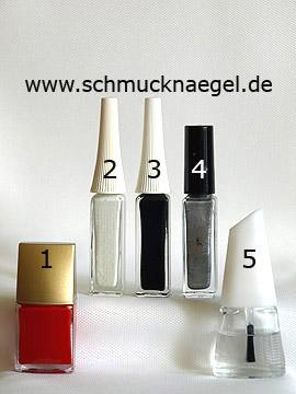 Products for the Santa Claus coat as fingernail design - Nail polish, Nail art liner