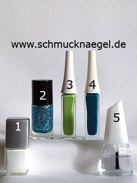 Products for the motif 'Four-leaf clover for the New Year' - Nail polish, Glitter nail polish, Nail art liner