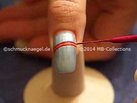 Nail art liner in the colours red, orange, fuchsia, yellow and blue