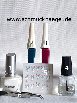 Products for the motif with fairy fingernail sticker and nail lacquer - Nail polish, Nail art liner, Nail sticker