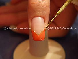 Nail art liner in the colours gold-Glitter