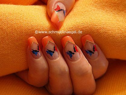 Butterflies as spring motif for the fingernails