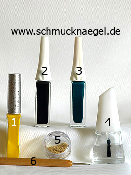 Products for the daffodil as fingernail motif for Easter - Nail art liner, Nail art bouillons, Spot-Swirl