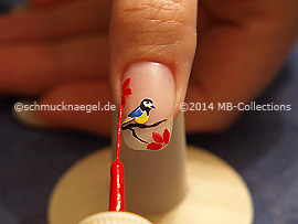Nail art liner in the color red