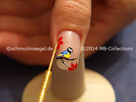 Nail art liner in the color gold-Glitter