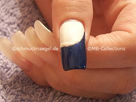 nail art pen or nail polish in the colour dark-blue