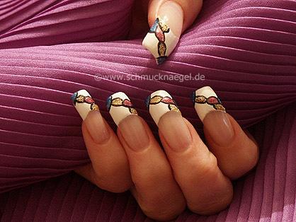 French fingernail motif