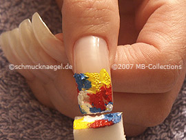 small sponge with the acrylic