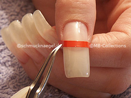 tweezers and the French manicure template
