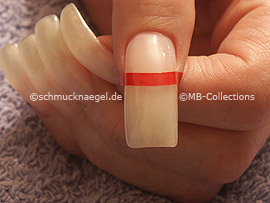 tweezers and French manicure template