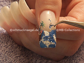 3D nail sticker and the tweezers