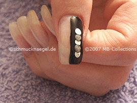 Nail art pen in the colour silver
