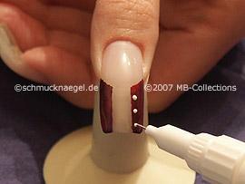 nail art pen in the colour white