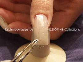 tweezers, cutter and clear adhesive tape