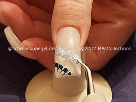 tweezers and nail sticker
