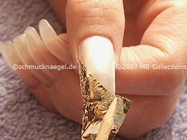 Beaten gold, tweezers and rosewood skewer