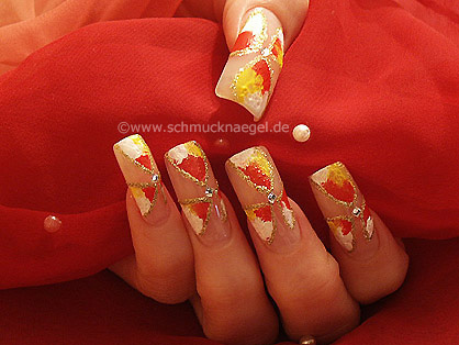 Nail manicure with acrylic