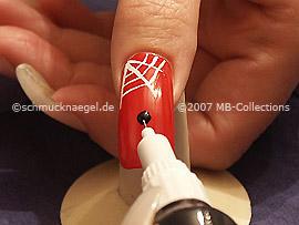 Nail art pen in the colour black