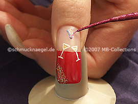 Nail art liner in the colour fuchsia-Glitter