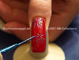 Nail art liner in blue-Glitter