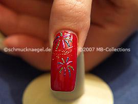 New years eve motif 3: Nail art motif 097